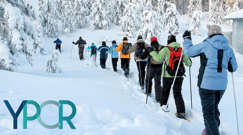 Young Pros Try It: Snowshoeing